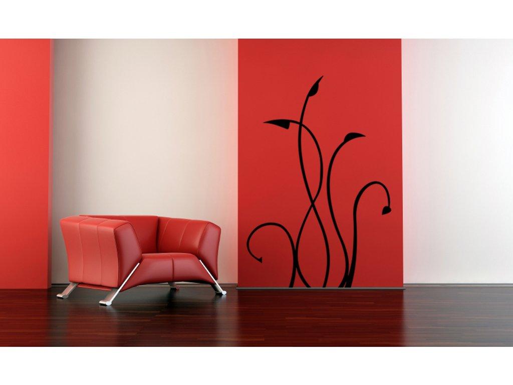 Trnový dekok - samolepka na zeď, úžasná dekorace | SAMOLEPKYnaZED.cz (barva černá)