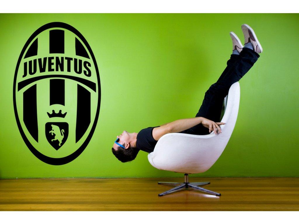 Dárek pro fotbalové fanoušky - logo Juventus Turín   SAMOLEPKYnaZED.cz (barva černá)
