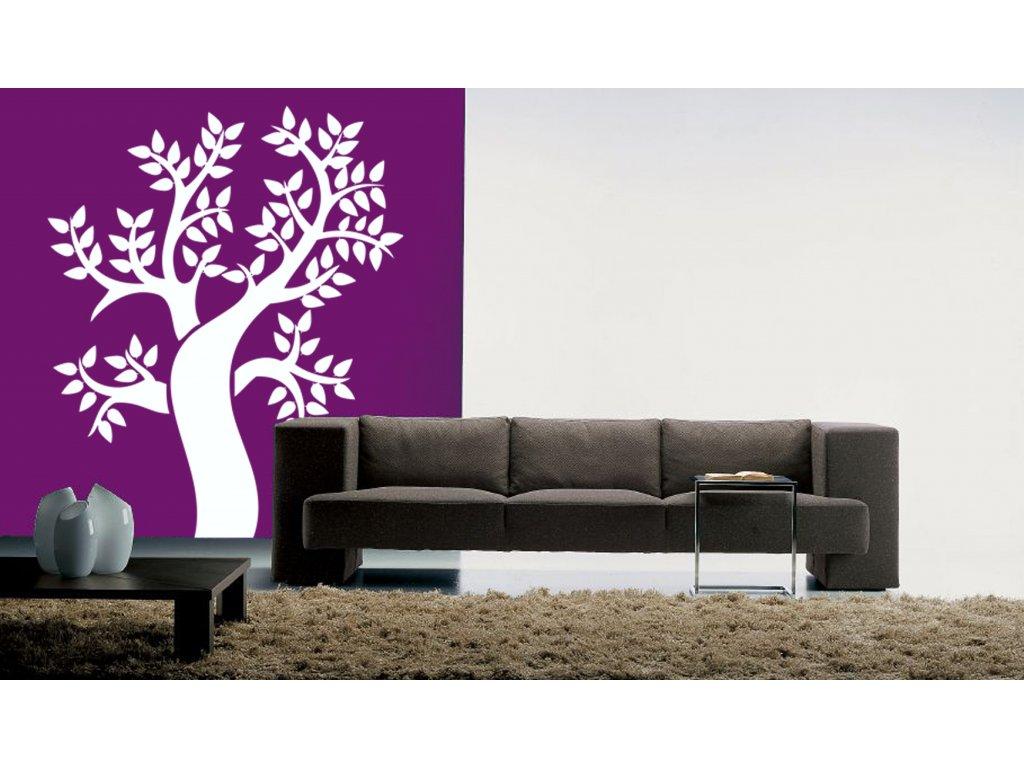 Strom Pampineo - samolepka na zeď, úžasná dekorace | SAMOLEPKYnaZED.cz (barva bílá)