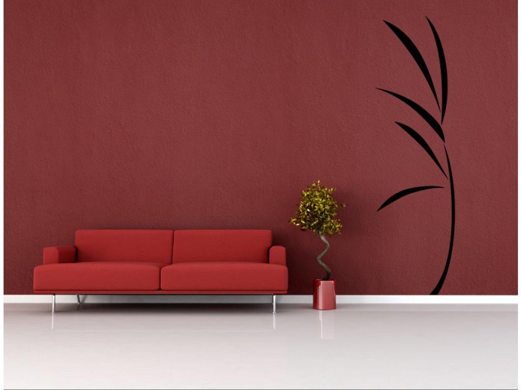 Listy trávy - samolepky na zeď a úžasná dekorace | SAMOLEPKYnaZED.cz (barva černá)