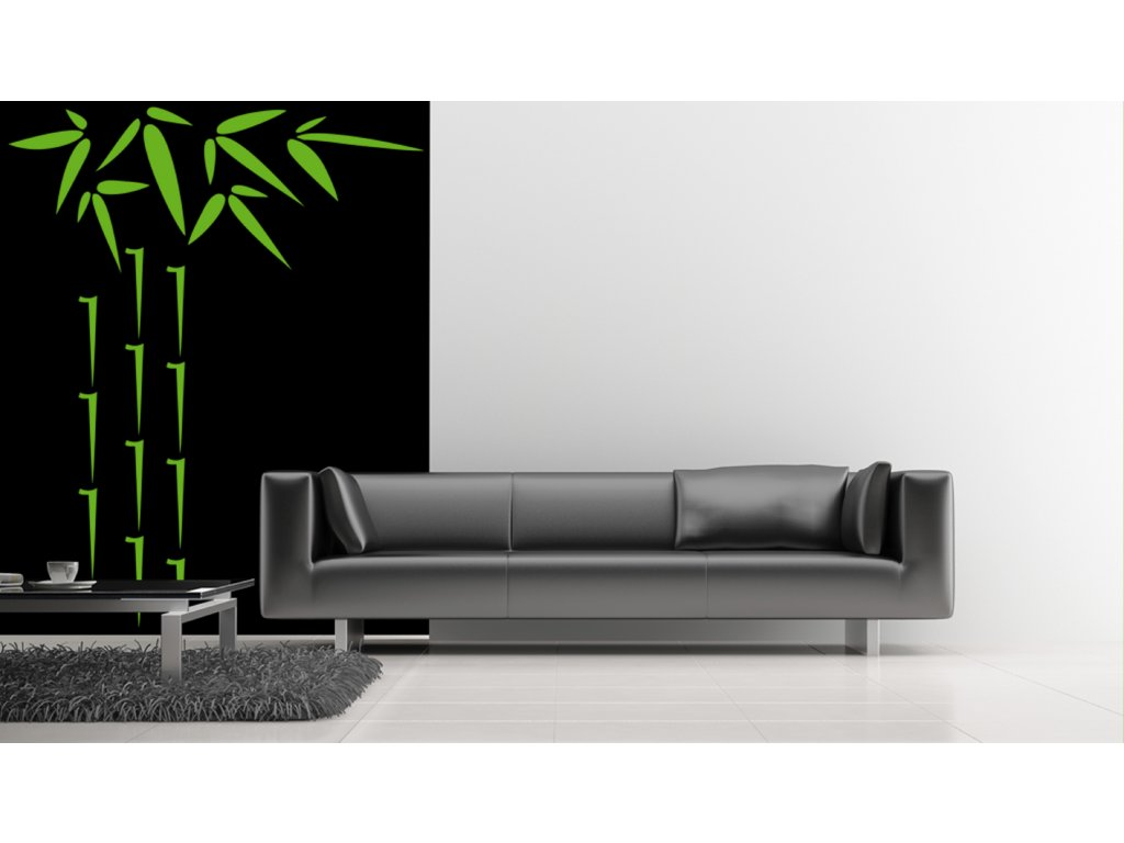 Bambus Linea - samolepka na zeď, úžasná dekorace (barva limetková)