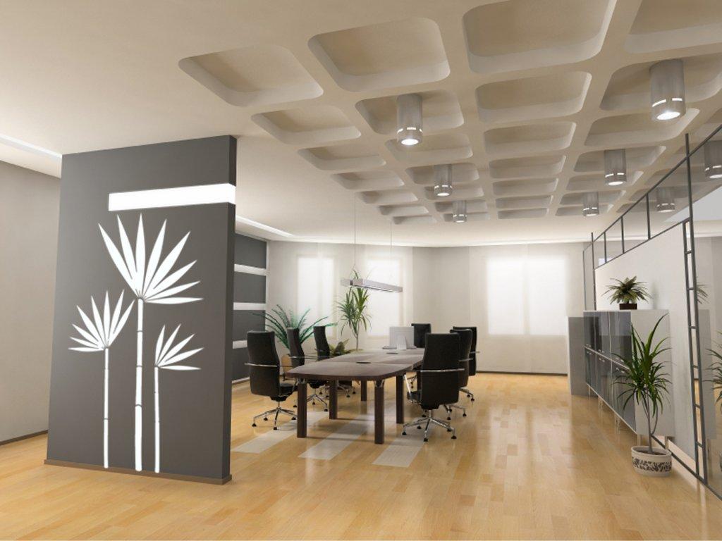 Bambusová dekorace nejen do kanceláře (barva bílá)