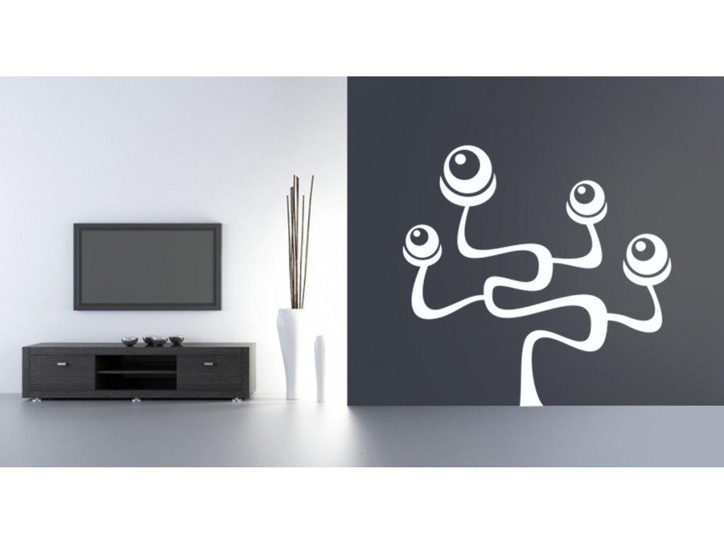 Strom Occhio - samolepka na zeď, úžasná dekorace | SAMOLEPKYnaZED.cz (barva bílá)
