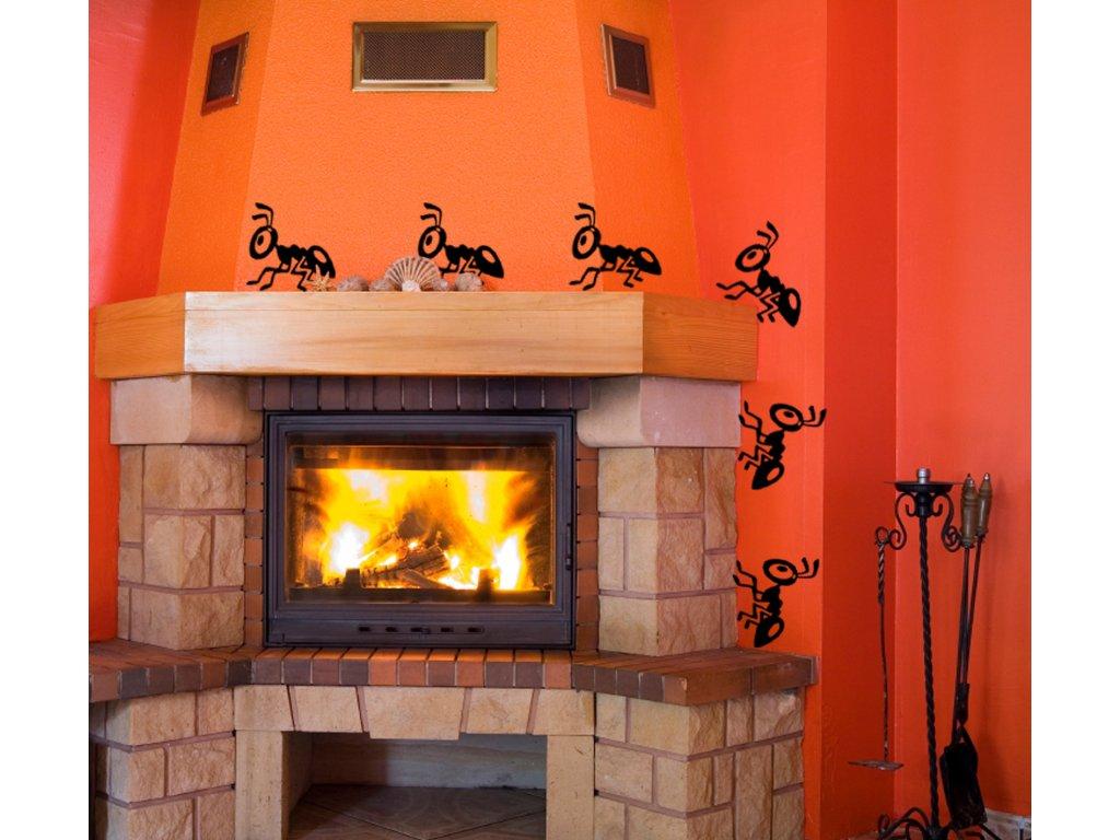 Motýlí farma - samolepící dekorace na zeď | SAMOLEPKYnaZED.cz (barva černá)
