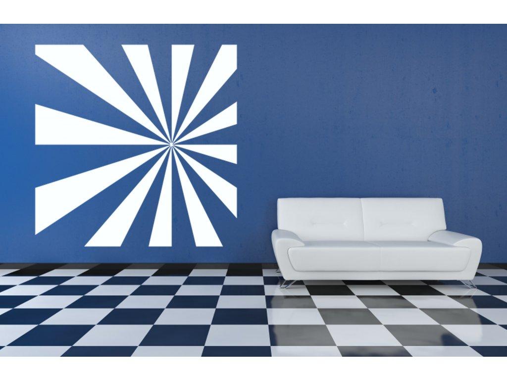 Lienární perspektiva - samolepkna na zeď   SAMOLEPKYnaZEĎ.cz (barva bílá)