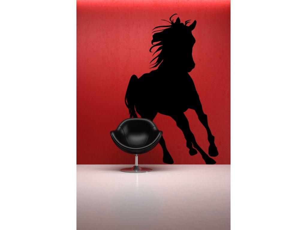 samolepky na zeď kůň (dekorace) - černá
