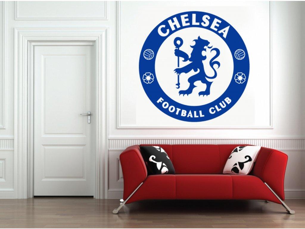 Dárek pro fotbalové fanoušky - logo FC Chelsea | SAMOLEPKYnaZED.cz (barva tmavě modrá)