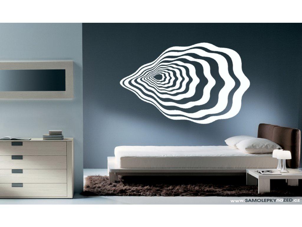 Černá díra - Samolepky na zeď - dekorace (barva bílá)