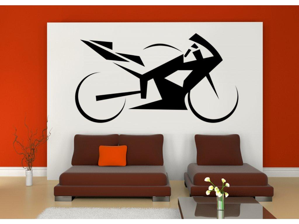 Dárek pro motorkáře - superbike na zeď (barva černá)