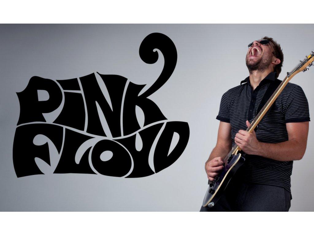 Logo Pink Floyd - samolepka na zeď | SAMOLEPKYnaZED.cz (barva černá)