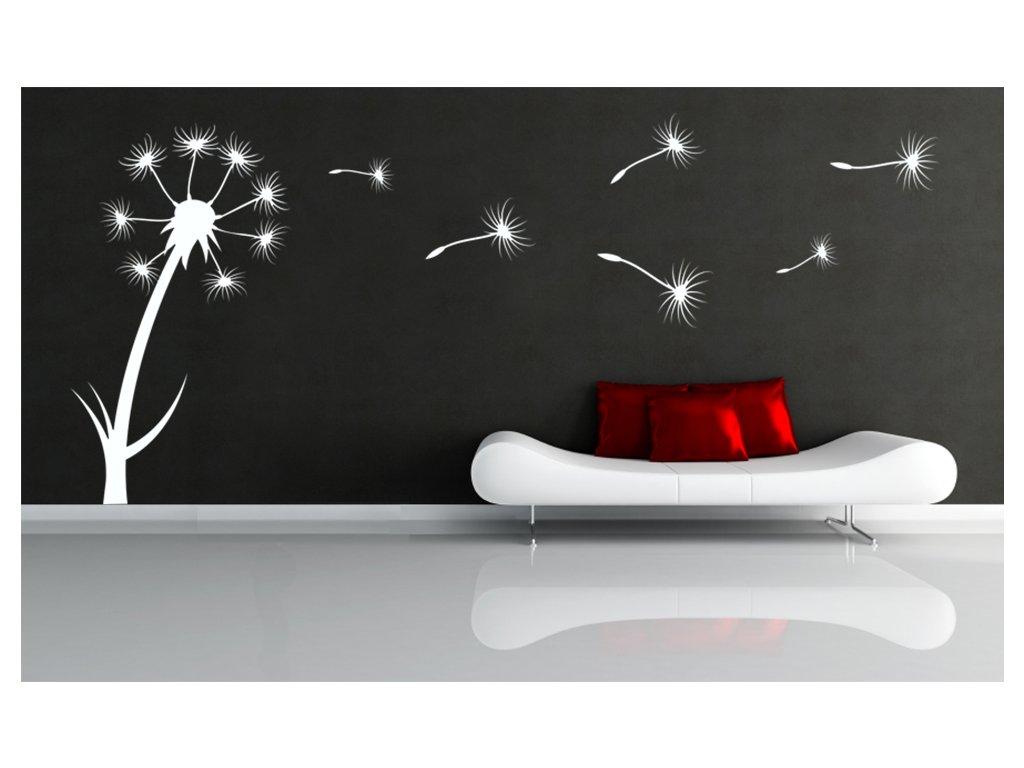 PAMPELIŠKA - samolepka na zeď, úžasná dekorace | SAMOLEPKYnaZED.cz (barva bílá)