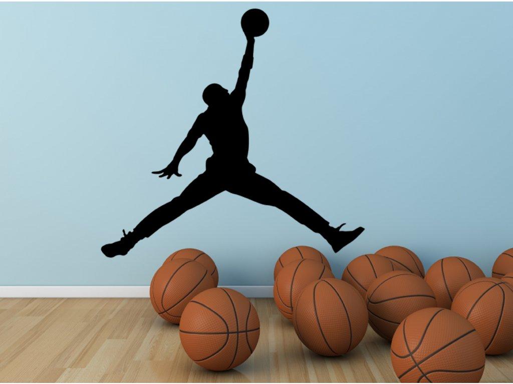 Michael Jordan -  samolepka pro milovníky basketballu | SAMOLEPKYnaZED.cz (barva černá)