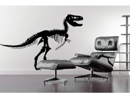 Dinosauři: Tyranosaurus Rex na zeď | SAMOLEPKYnaZED.cz (barva černá)