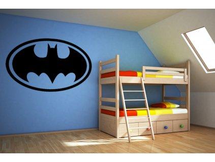 Batman - Samolepka na zeď (barva černá)