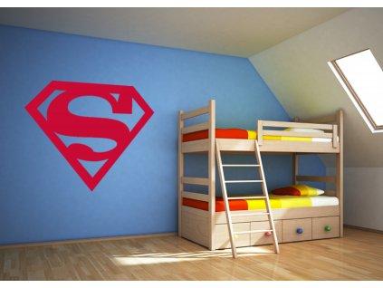 Superman - Samolepka na zeď   SAMOLEPKYnaZED.cz (barva červená)