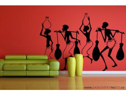 Domorodci - Samolepky na zeď - dekorace | SAMOLEPKYnaZED.cz (barva černá)