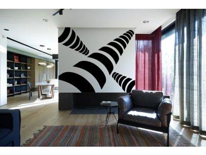 Vrtule - Samolepky na zeď - dekorace | SAMOLEPKYnaZED.cz (barva černá)