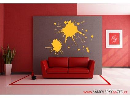 Skvrny na zdi - Samolepky na zeď - dekorace | SAMOLEPKYnaZED.cz (barva žlutá)