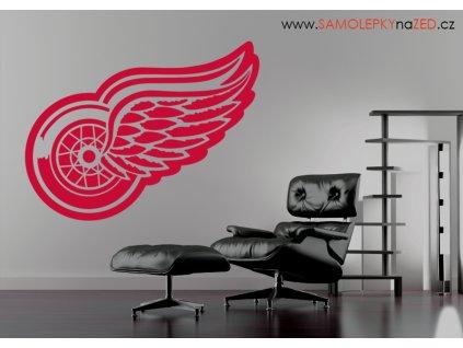 Dárek pro hokejové fanoušky - logo Red Wings | SAMOLEPKYnaZED.CZ (barva červená)