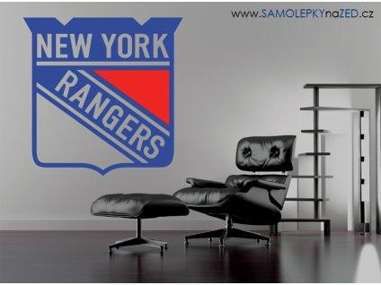 Dárek pro hokejové fanoušky - logo NY rangers | SAMOLEPKYnaZED.cz
