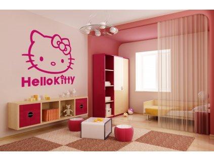 samolepky hello kitty (dekorace) - růžová