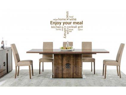 Enjoy your meal Samolepka do kuchyně (měděná lesklá)