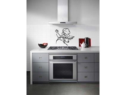Šéfkuchař - Samolepka do kuchyně (černá)