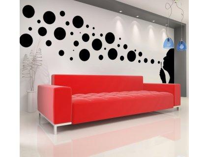 Bublifuk a bubliny - samolepky na zeď (barva černá)
