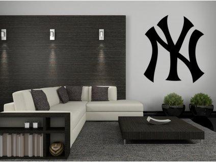 Dárek pro baseballové fanoušky - logo New York Yankees | SAMOLEPKYnaZED.cz (barva černá)