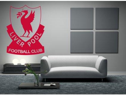 Dárek pro fotbalové fanoušky - logo FC Liverpool | SAMOLEPKYnaZED.cz (barva červená)