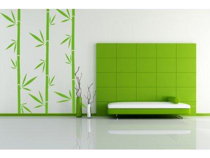 Bambus - samolepka na zeď a úžasná dekorace (limetková)