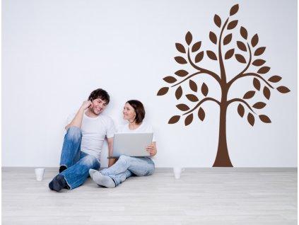 Strom natural - samolepka na zeď, úžasná dekorace | SAMOLEPKYnaZED.cz (barva hnědá)
