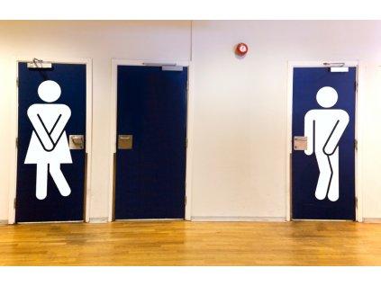 Vtipné postavy na WC- samolepky na zeď | SAMOLEPKYnaZED.cz (barva bílá)