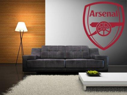 Dárek pro fotbalové fanoušky - logo FC Arsenal | SAMOLEPKYnaZED.cz (barva rudá)