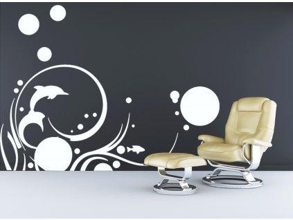 Podvodní svět - samolepící dekorace na zeď | SAMOLEPKYnaZED.cz (barva bílá)