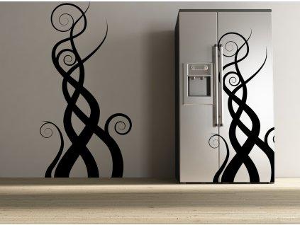 Fiamme - samolepky na zeď či lednici (barva černá)