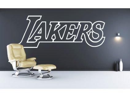 Dárek pro basketbalové fanoušky - logo Los Angeles Lakers| SAMOLEPKYnaZED.cz (barva bílá)