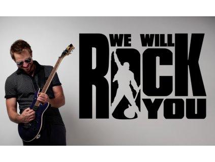 Queen - Freddie Mercury - dekorace na zeď | SAMOLEPKYnaZED.cz (barva černá)