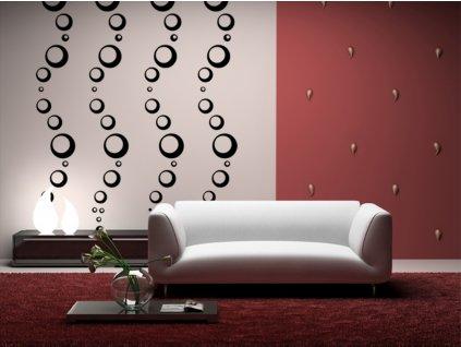 Bubliny na zeď Aqua - dekorace na stěnu (barva černá)
