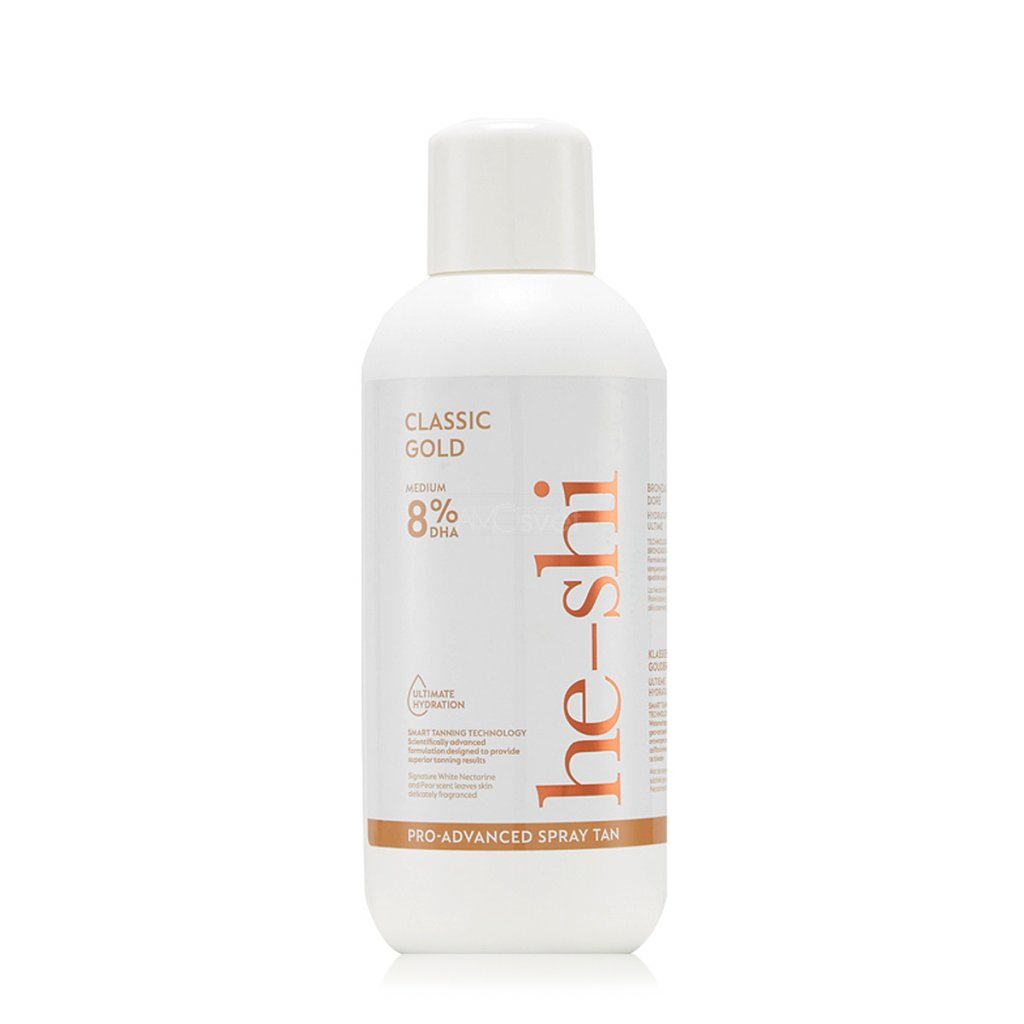 He-Shi CLASSIC GOLD 8 Liquid samoopalovaci nastrik salon emulze