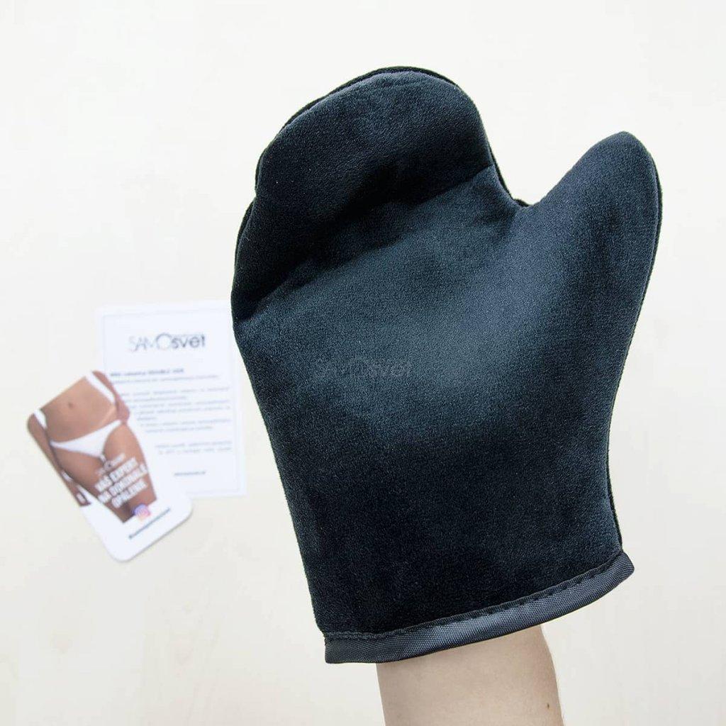 He-Shi Dark Foaming Mousse+Exfoliating gloves samoopalovaci pena+Peelingove rukavice Vitiligo