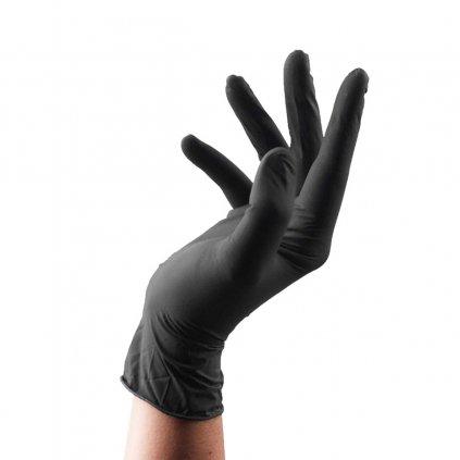 Samoopalovaci aplikacni rukavice nytrilove cerne