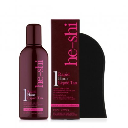 He-Shi Rapid 1Hour Liquid Tan 150ml