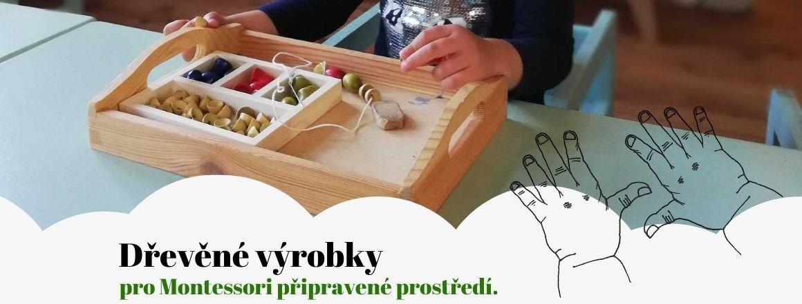 Dřevěné výrobky pro Montessori domácnost