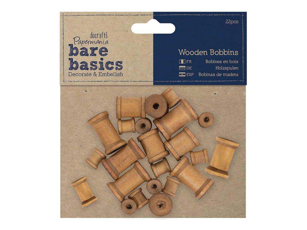 Dřevěné špulky - cívky 22ks