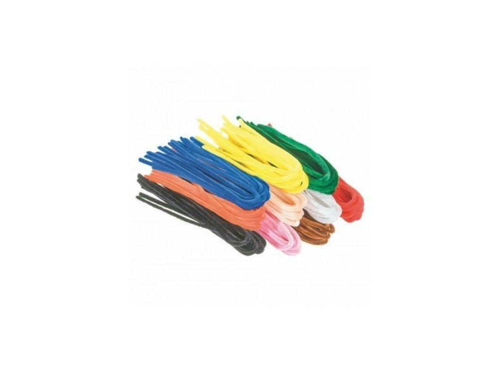 Chlupaté drátky 100ks mix 10 barev