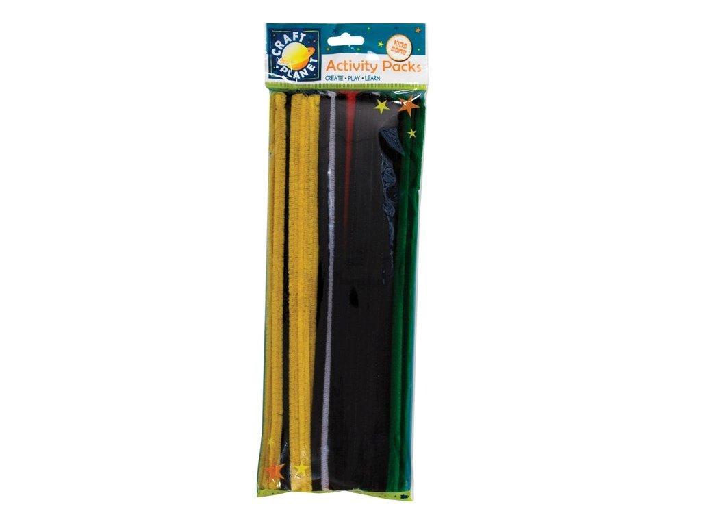 Chlupaté drátky 60ks základní barvy