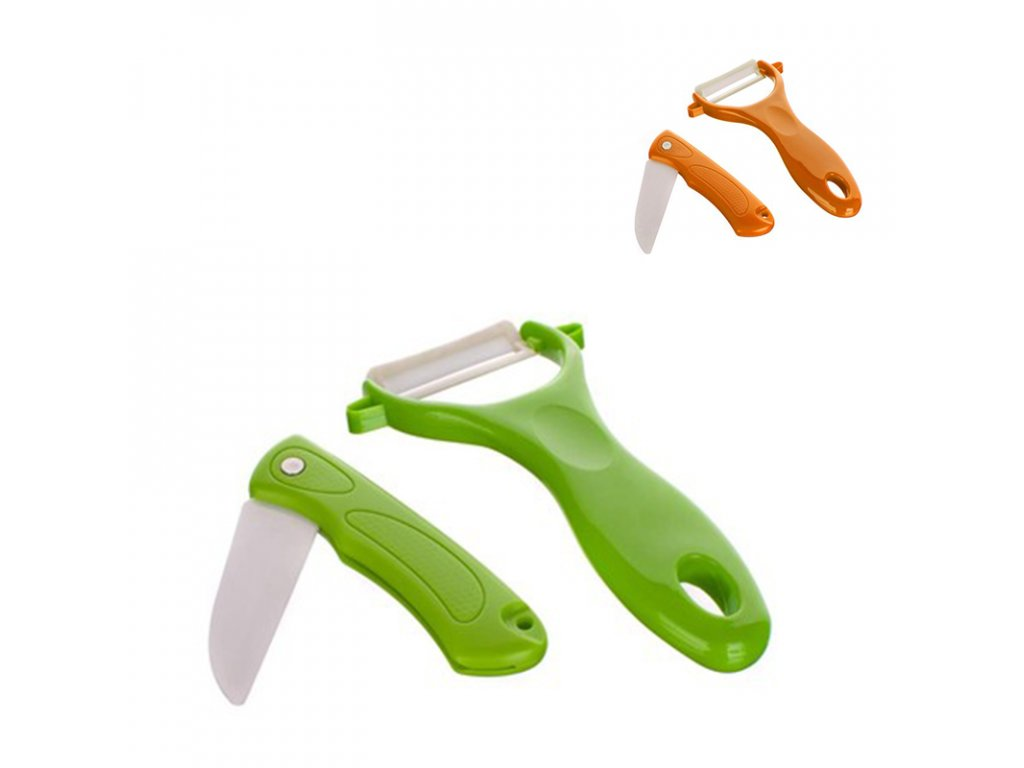 Sada nůž a škrabka Culinaria (Vyberte si barvu zelená)