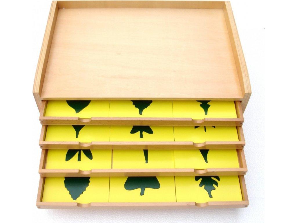 Botanická komoda s listy