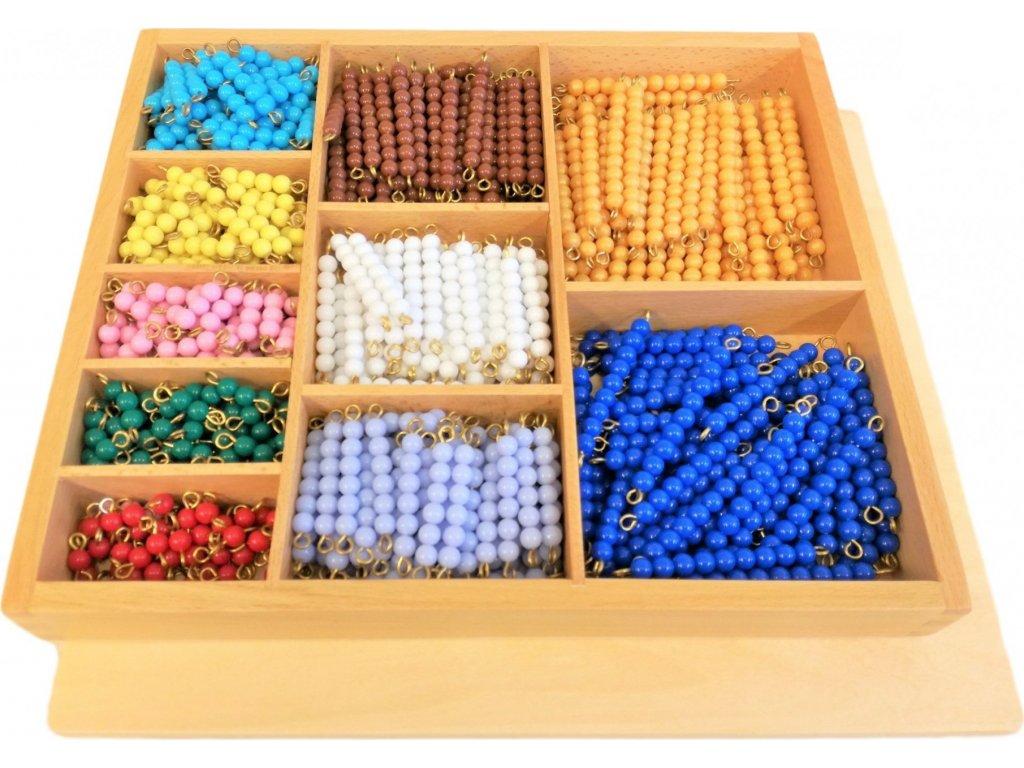 Korálková krabice - barevné schody (1-10)